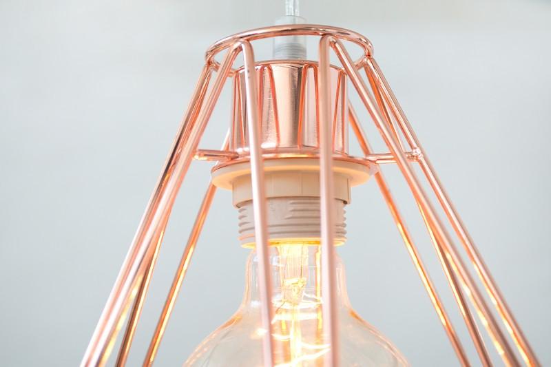 Závěsná lampa Jasper L - měď / 37713