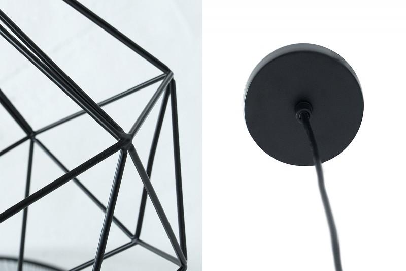 Závěsná lampa Jasper L -  černá / 37714