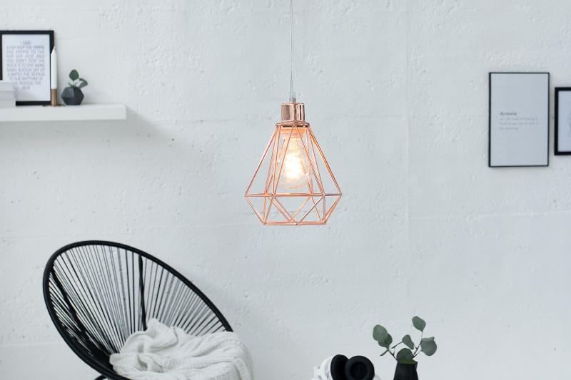 Závěsná lampa Jasper S - měď / 37715