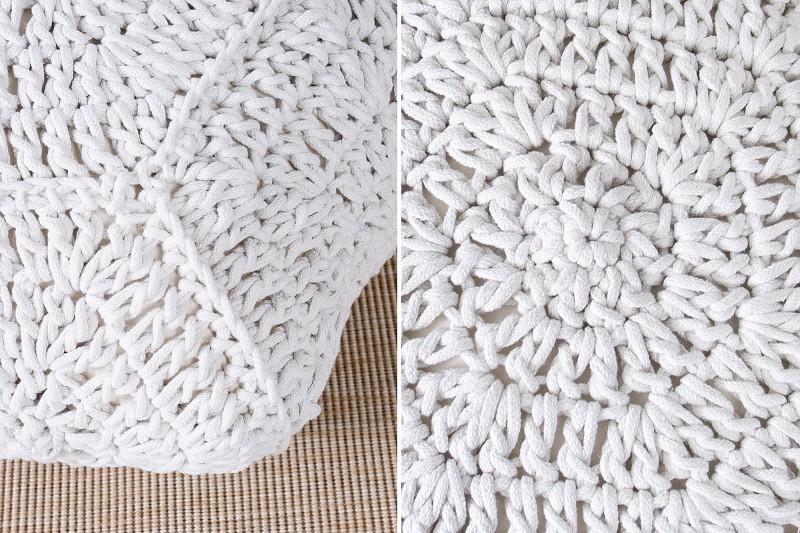 Podnožka Cozy IV 70cm bílá pletená / 37752