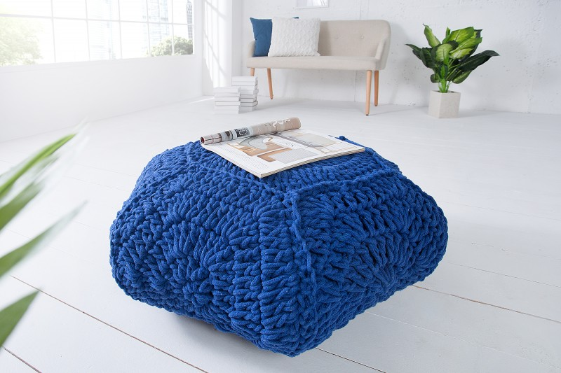 Podnožka Footstool 70cm x 70cm - tmavě modrá / 37755