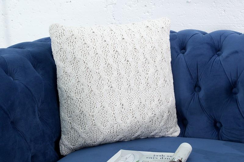 Polštář Cozy III 45cm bílý z pletení / 37766