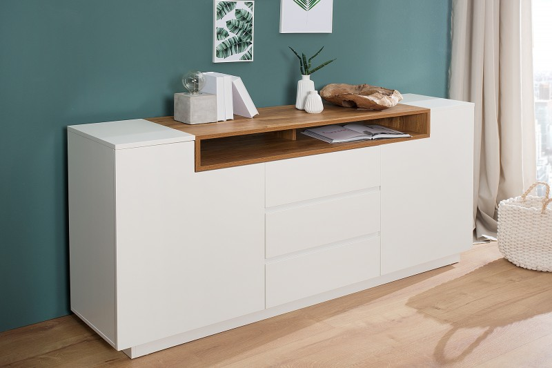 sideboard empire 180cm weiss eiche 37531 6191. Black Bedroom Furniture Sets. Home Design Ideas