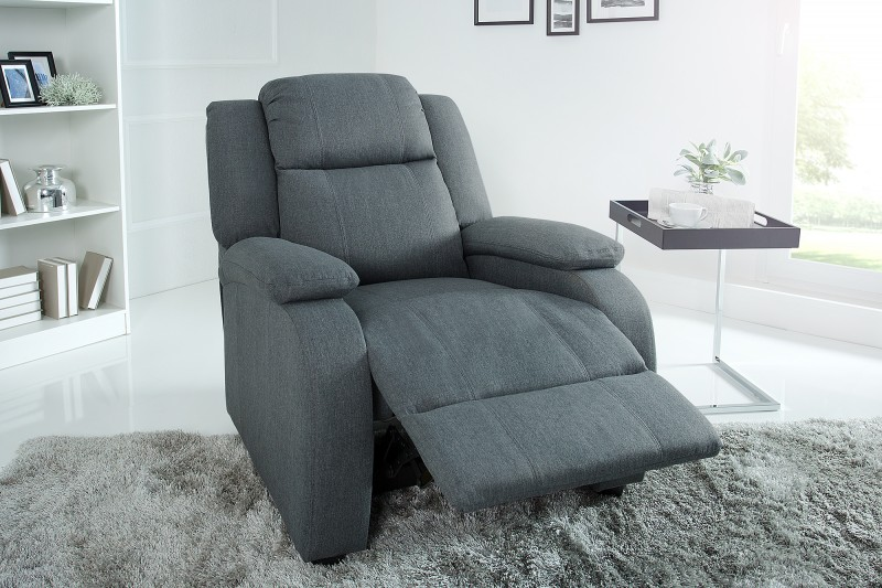Relaxační křeslo Fullerton - tmavě šedé / 37929