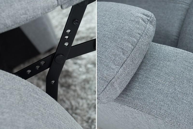Relaxační křeslo Fullerton - světle šedé  / 37930