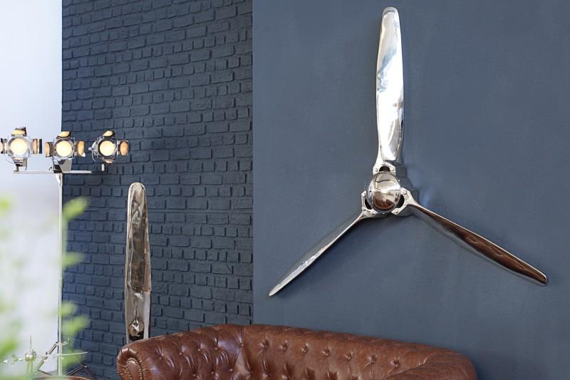 Dekorační vrtulový šroub III 60cm stříbrný / 37604