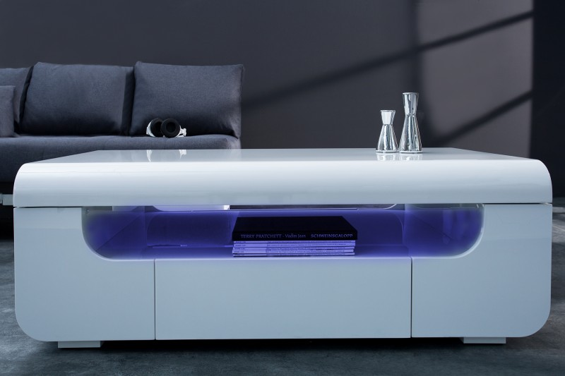 Couchtisch Cube Ambience 120cm LED weiss/ 37870 -6196