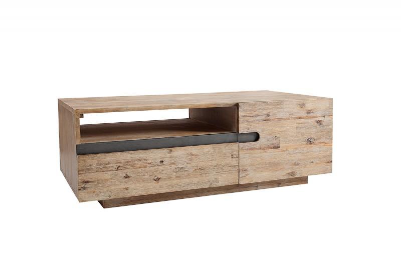 Konferenční stolek Darren 115cm x 60cm - akátový teakový šedý / 37594