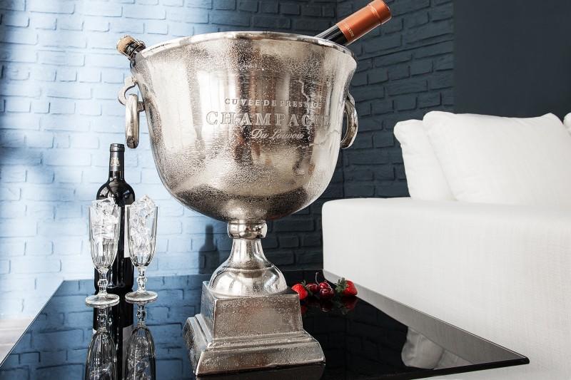 Chladič šampaňského 40cm stříbrný / 37606