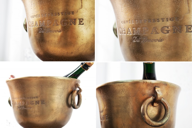 Chladič šampaňského 40cm zlato / 37607