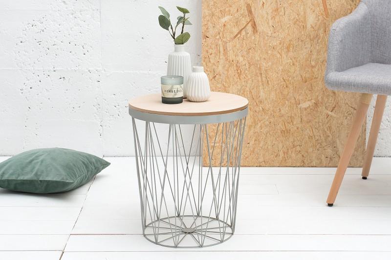 Konferenční stolek Storage 37cm - šedá / 37545