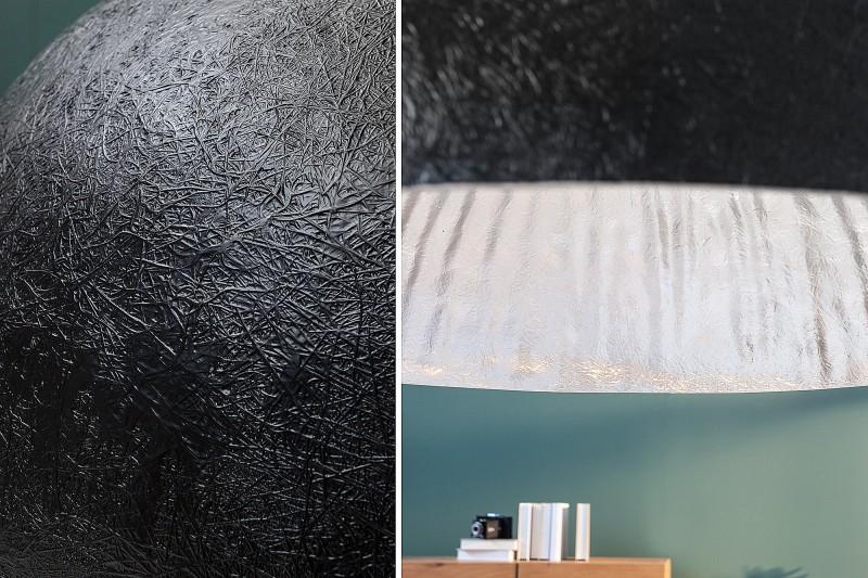 Závěsné světlo Bennett -  černá, stříbrná 50cm / 38294
