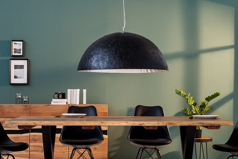 Závěsné světlo Bennett - černá, stříbrná 70cm / 38295