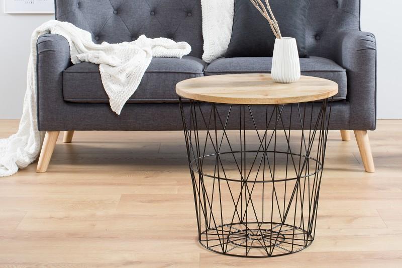 Konferenční stolek Storage 52cm - černý, mango / 38007