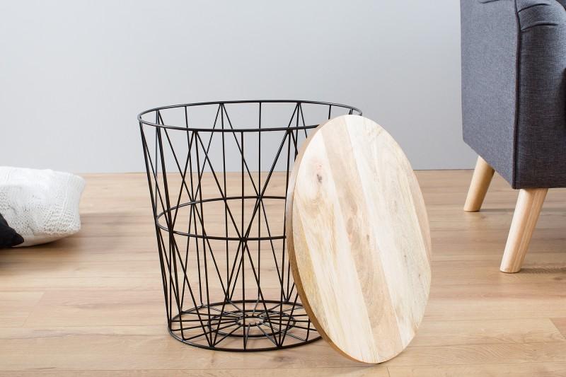 Konferenční stolek Storage 42cm - černý, mango / 38008
