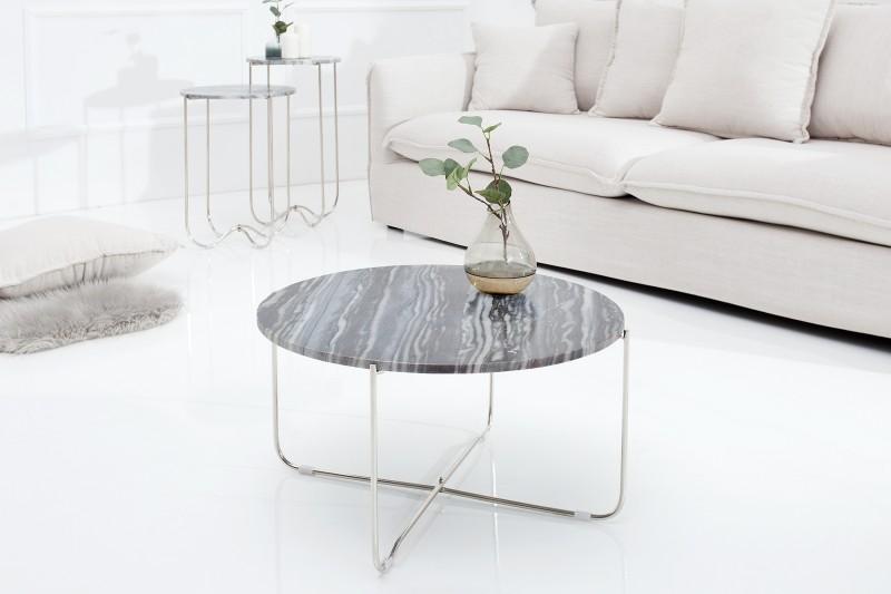 Couchtisch Noble Grau Marmor Silber 38011 5806