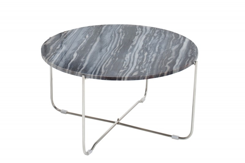 Konferenční stolek Marble Desk 62cm - šedý mramor / 38011