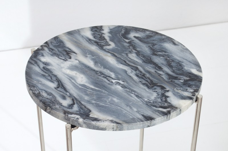 Odkládací stolek Marble Desk 35cm - šedý mramor / 38015