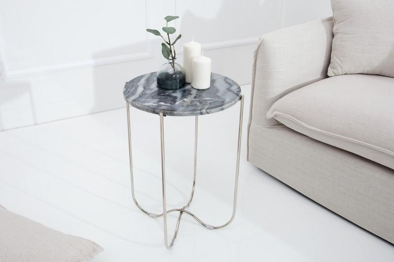 Odkládací stolek Marble Desk 38cm - šedý mramor / 38020