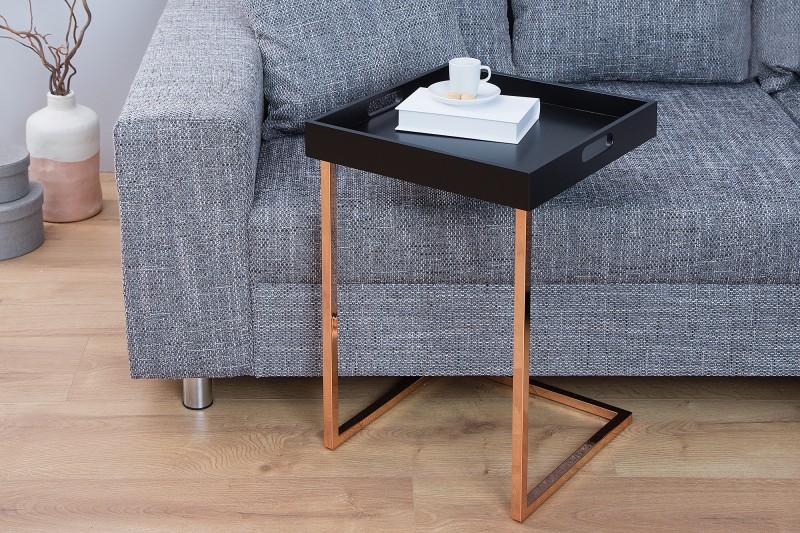Odkládací stolek Ciano - černá,měď / 38057