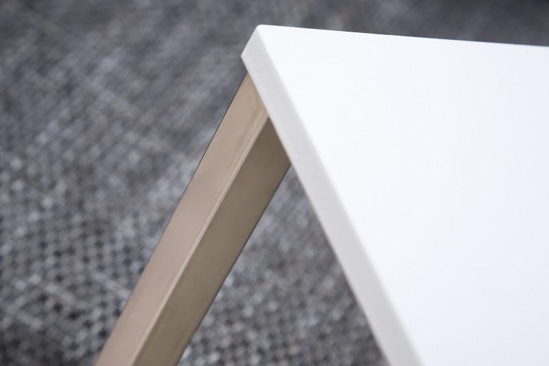 Odkládací stolek Home 30cm x 60cm - bílá, stříbrná / 37949