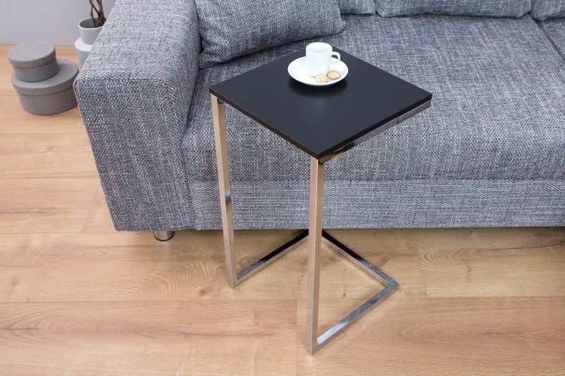 Odkládací stolek Home 60cm x 30cm - černá, stříbrná / 37950