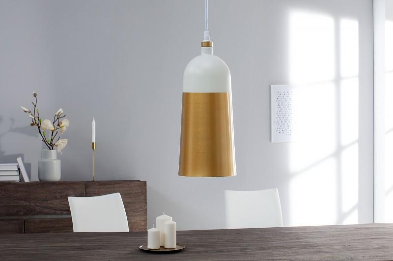 Závěsné světlo Benicia I - bílá, zlatá / 37701