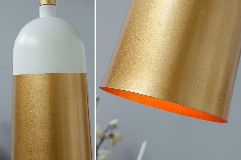 Závěsná lampa Modern Chic I - bílá, zlatá / 37701