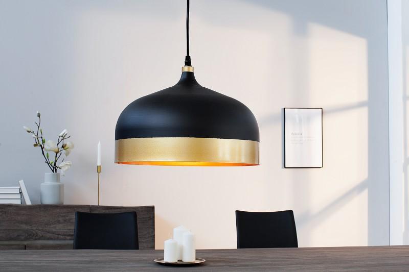 Závěsná lampa Modern Chic II - černá, zlatá / 37703