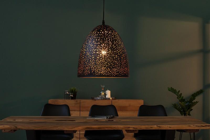 Závěsná lampa Matthew II - černá, měď / 37710