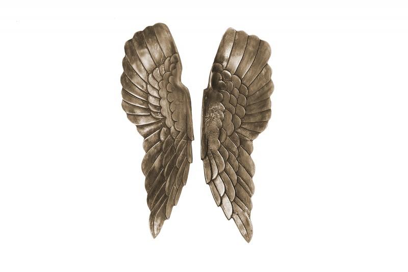 Nástěnná dekorace Fallen Angel 65cm - stříbro, bronz / 38437
