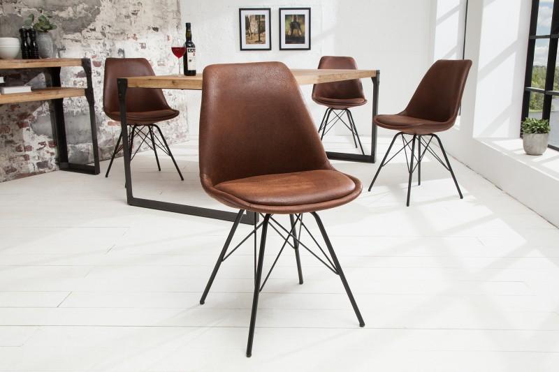 Jídelní židle Scandinavia - vintage hnědá / 38088