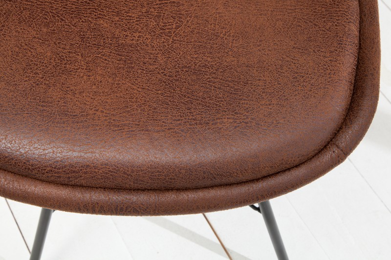 Židle Scandinavia retro - vintage hnědá / 38088