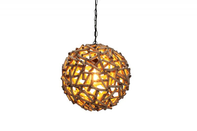 Závěsná lampa Chase l - naplavené dříví / 38161