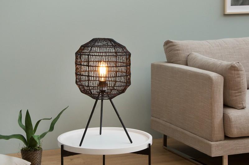 Stolní lampa Black Cage 57cm - černá / 38162