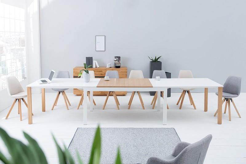 Jídelní stůl Continental 180-420cm bílý dub / 38146