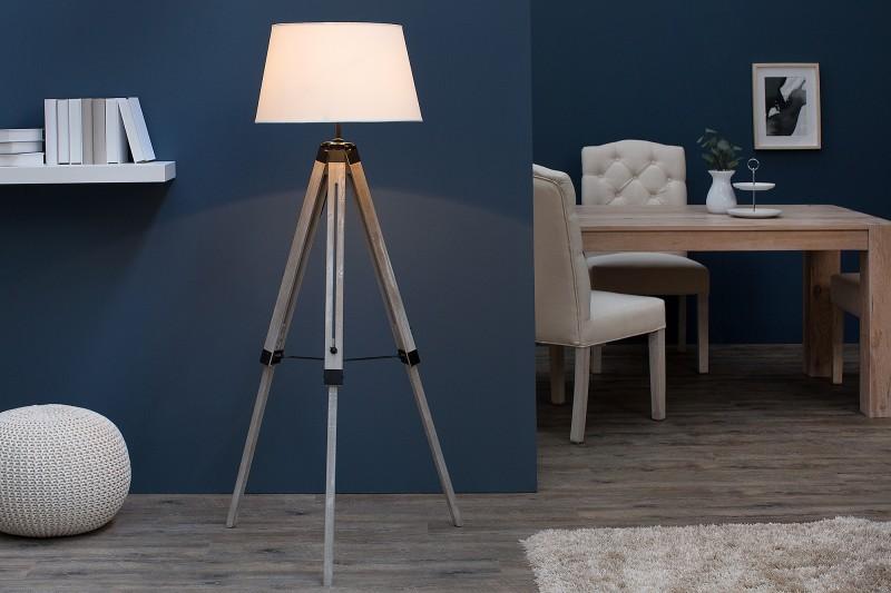 Stojací lampa Sylt 100-145cm - béžová / 37921