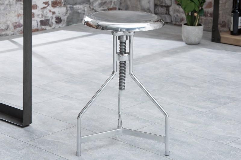 Otočná stolička Factory silver Industrial / 38062