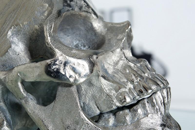 Stolní lampa Skull 44cm - černá, stříbrná / 38320