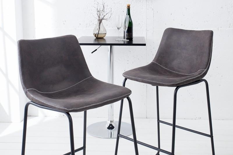 Barová židle Django šedá vintage / 38110