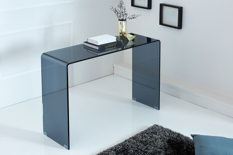 Odkládací stůl Fantome 100cm x 75cm - antracitové sklo / 38177