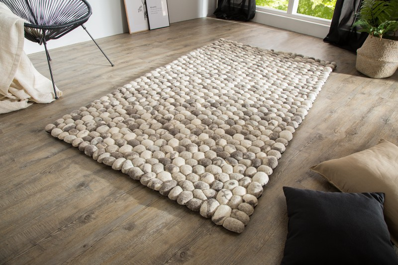 Koberec Stone Carpet 200cm x 120cm - šedá plsť / 38254