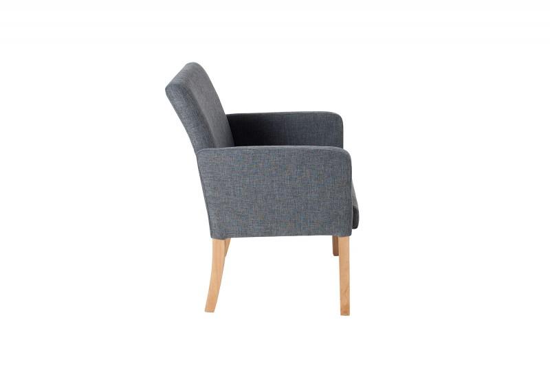 Židle Casa m. Loketní opěrka šedá / 37881