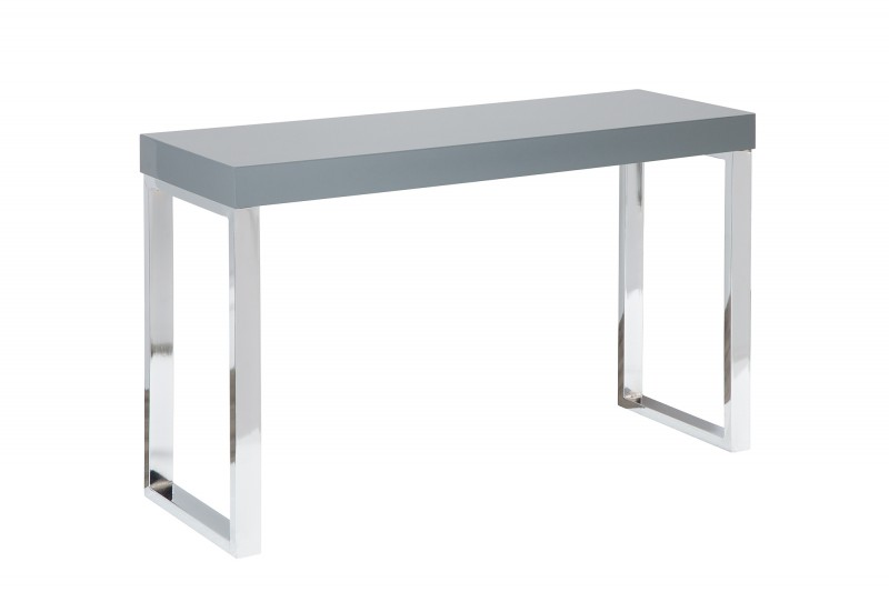 Pracovní stůl Writing Desk 120cm x 40cm - šedý, chrom / 38329
