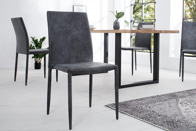 Jídelní židle Doris - starožitná šedá / 37467