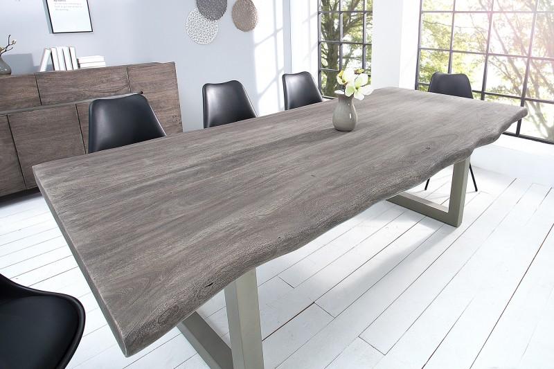 Jídelní stůl Mammut 200cm - šedý akát 60mm / 37240