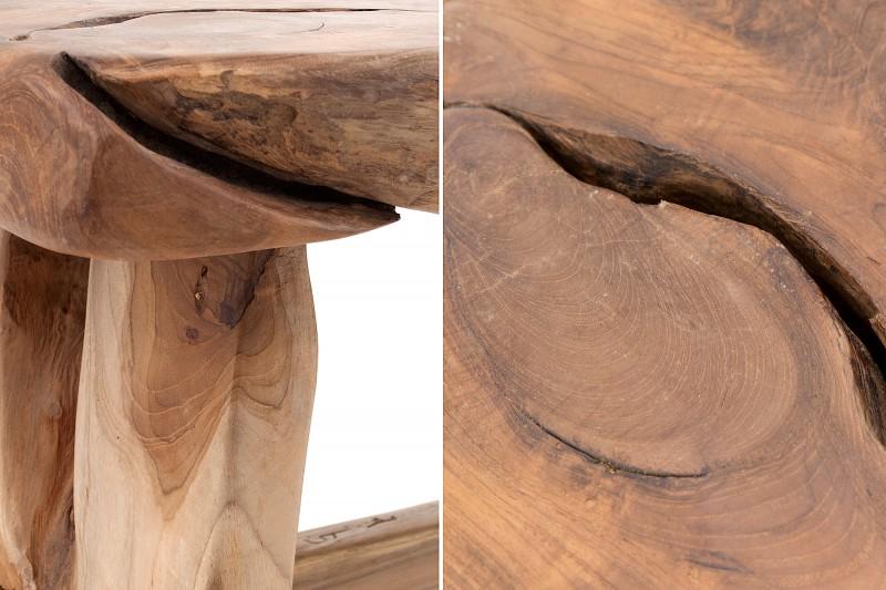 Lavička Nature Root 80 cm teak / 37633