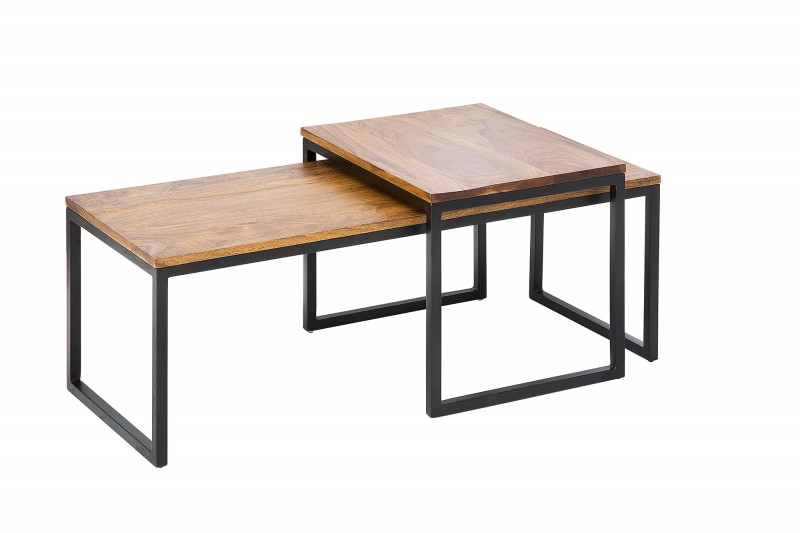 Konferenční stolek Matteo 2ks - Sheesham / 38398
