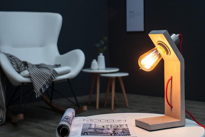 Stolní lampa Cement Structure 30cm - šedá / 38408