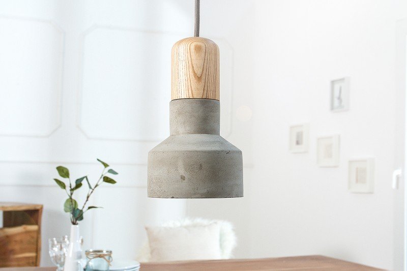 Závěsná lampa Bolton - beton, šedá / 38409
